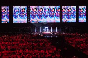 リオパラリンピック閉会式のハンドオーバーセレモニーで使用されたGIMICOさん写真